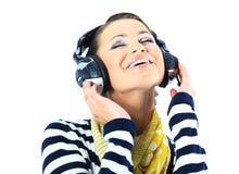 Beautiful girl with headphones. Stock Photography