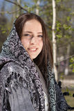 Beautiful girl in a headscarf. Smiling Royalty Free Stock Image