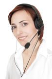 Beautiful girl with headset. Stock Photo