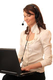 Beautiful girl in headsets. Stock Photography