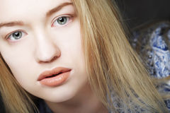 Beautiful girl, headshot isolated on white. Beautiful teen girl, headshot isolated on white Royalty Free Stock Photos