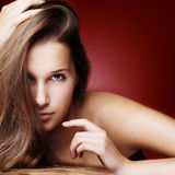 Beautiful Girl with Healthy Long Hair Royalty Free Stock Photography