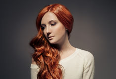 Beautiful Girl. Healthy Long Hair. Stock Photo