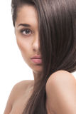 Beautiful girl with healthy long hair Royalty Free Stock Photos