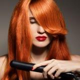Beautiful Girl. Healthy Long Hair. Royalty Free Stock Images