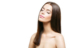 Beautiful girl with healthy shiny hair Royalty Free Stock Image