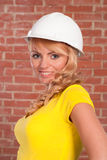 Beautiful girl in helmet Stock Photography