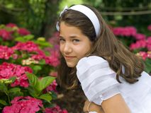 Beautiful girl in her first communion Stock Photos