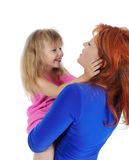 Beautiful girl with her mom. Royalty Free Stock Photography
