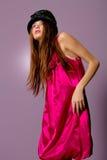 Beautiful girl in high fashion dress Stock Image