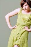 Beautiful girl in high fashion dress Royalty Free Stock Photos