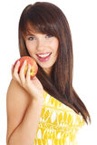 Beautiful girl holding apple Stock Photography