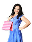 Beautiful girl holding a gift Royalty Free Stock Photography