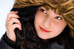Girl with hood Royalty Free Stock Photos
