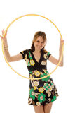 Beautiful girl with hoop Stock Images
