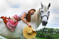 beautiful girl horse Στοκ Φωτογραφίες