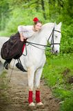 Beautiful girl with horse Stock Photography