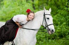 beautiful girl horse στοκ εικόνα με δικαίωμα ελεύθερης χρήσης