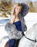 Beautiful girl with horse Royalty Free Stock Photos