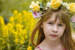 Beautiful girl hugging a bouquet Royalty Free Stock Photos