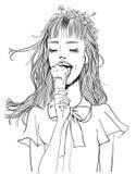 Beautiful Girl With an Ice Cream stock photo