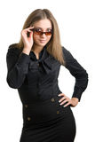 Beautiful girl iin sun glasses Stock Photography
