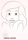 Beautiful girl illustration. Beautiful girl smiling, brown eyes, Vector EPS10 file included Stock Images