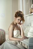 Beautiful girl in the image of the bride Royalty Free Stock Photography