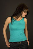 Beautiful Girl In Casual Clothing Royalty Free Stock Photos