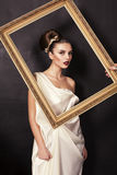 Beautiful Girl In Greek Style Royalty Free Stock Photography