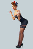 Beautiful Girl In Pin-up Style Royalty Free Stock Images