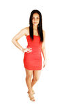 Beautiful Girl In Red Dress. Royalty Free Stock Photography