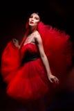 Beautiful Girl In Red Dress Stock Photos