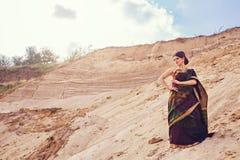 Beautiful girl in indian sari Royalty Free Stock Images