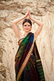 Beautiful girl in indian traditional sari Stock Image