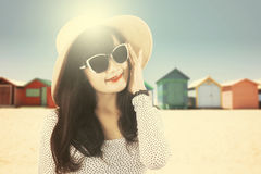 Beautiful girl with an instagram filter style Stock Photography