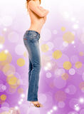 Beautiful girl in jeans Stock Image