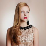 Beautiful girl with jewelry Royalty Free Stock Image