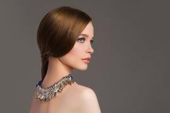 Beautiful girl with jewelry Stock Photo