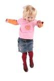 Beautiful girl jump Royalty Free Stock Photography