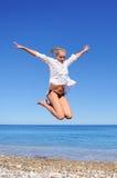 Beautiful Girl Jumping Royalty Free Stock Image