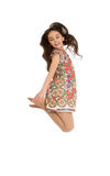 Beautiful girl jumping Royalty Free Stock Images