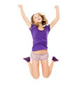 Beautiful girl jumps Royalty Free Stock Photo