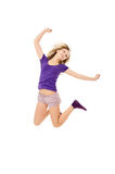 Beautiful girl jumps Royalty Free Stock Images