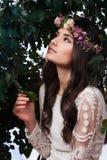 Beautiful Girl in Jungle Stock Photos