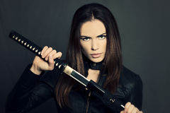 Katana girl Royalty Free Stock Photography