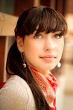 Beautiful girl with kerchief on neck Royalty Free Stock Photography