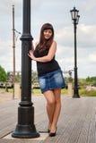 Beautiful girl on lantern. Royalty Free Stock Image