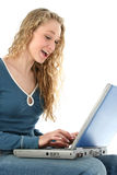 Beautiful Girl Laptop Stock Photography