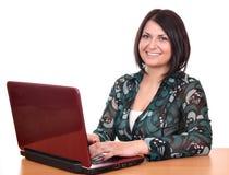 Beautiful girl with laptop Stock Photos
